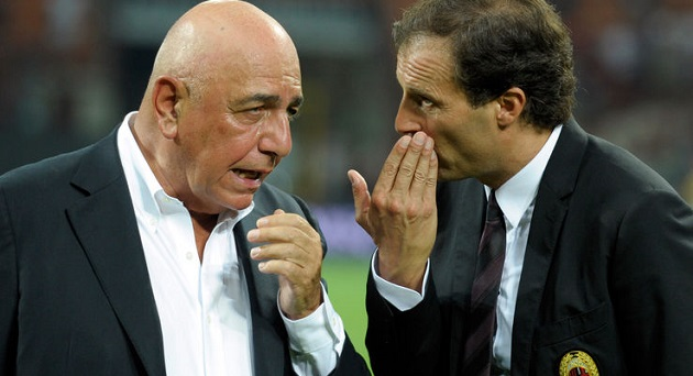 milan allegri-galliani